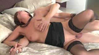 Ебля с мамашой в сексуальном белье!