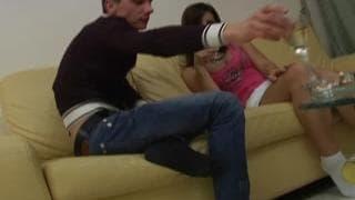 Молодая пара трахается после вина
