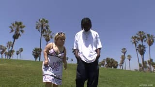 Стелла Мари трахается с черным парнем