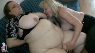 Эти две бабушки очень горячие лесбиянки