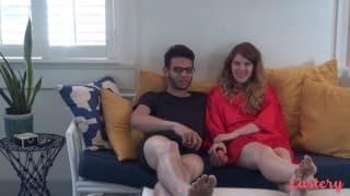 Любительская французская пара ебётся в душе