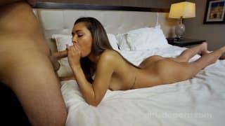 Подросток в своём первом порно кастинге